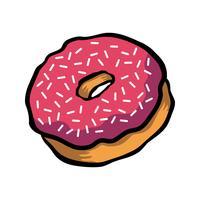 Ícone de vetor de desenhos animados de donut