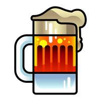 Ícone de vetor de caneca de cerveja