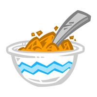 Tigela de ícone de vetor de cereais