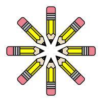 Vetor de lápis amarelo