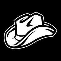 Chapéu de vaqueiro ocidental vetor