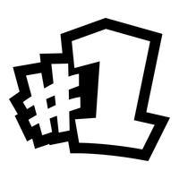 # 1 gráfico do texto do logotipo do número um vetor