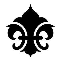 Símbolo da flor de lis vetor