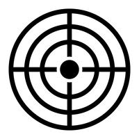 Ícone do vetor alvo