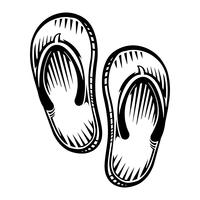 Ícone de vetor de sapato Flip Flop