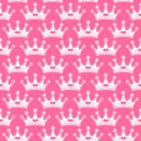 Princesa feminina rosa Realeza coroa com jóias de coração vetor