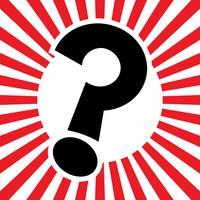 Ponto de interrogação, caricatura, vetorial, ícone