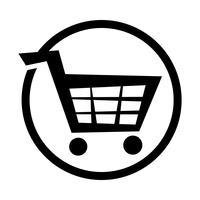Ícone de vetor de carrinho de compras