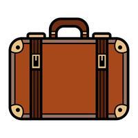 Ícone de vetor de mala de viagem