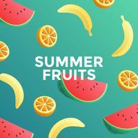 Vetor de alimentos frutas verão