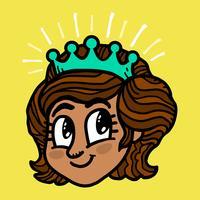 Princesa dos desenhos animados vetor