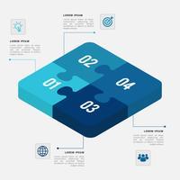 Vetor de elementos 3D infográfico