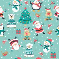 Padrão de Natal no fundo azul vetor