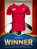 Copo de futebol 2018, conceito de vencedor de Dinamarca.