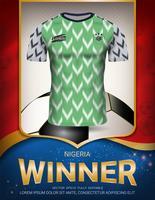 Copa de futebol 2018, conceito de vencedor da Nigéria.