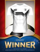Copo de futebol 2018, conceito de vencedor de Alemanha.
