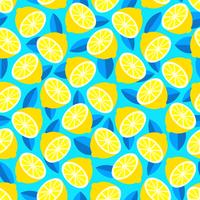 Vetor de fundo de verão brilhante Citrus na moda