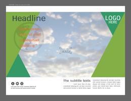 Projeto de layout de apresentação para o modelo de negócios, inspiração para seu projeto todos os meios de comunicação. vetor