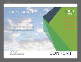 Projeto de layout de apresentação para o modelo de negócios, inspiração para seu projeto todos os meios de comunicação.