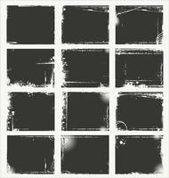 Coleção de bandeira cinza grunge vazio