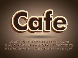 Logotipo de texto de tipografia de café e Chocolate vetor