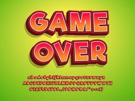 3d Typeface Game Logo Tittle Efeito de texto vetor