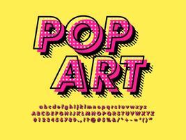 Efeito de fonte de pop art moderno vetor