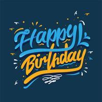 Feliz aniversário tipografia vector