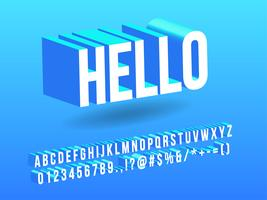 Alfabeto Simples 3D isométrico vetor