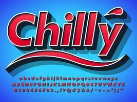 Tipo de Alfabeto 3D Font Design vetor