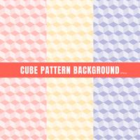 Grupo de rosa do teste padrão do cubo, roxo, fundo e textura amarelos da cor. vetor