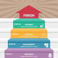Variedade de Business Step vetor