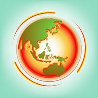 Vetor abstrato de aquecimento global