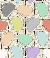 Padrão sem emenda com rótulo de coração colorido.