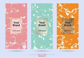 Modelos de rótulo e adesivos de design de produto de embalagem. vetor