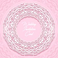 design de corte de papel de cartão de convite de casamento