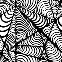 Resumo padrão preto e branco sem costura. vetor