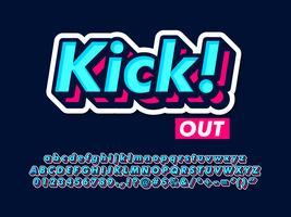 Cool Typeface Para T-shirt E Design De Mercadorias vetor