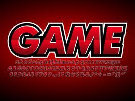 Logotipo da equipe de jogos de esporte vermelho E