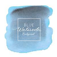 Fundo abstrato aquarela azul. Elemento de aquarela para cartão. Ilustração vetorial
