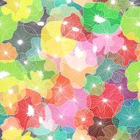 Fundo sem emenda dos elementos florais na arte do vetor.