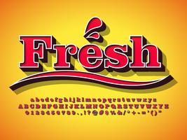 Velho 3d Retro Vintage Typeface