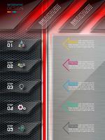 Elementos abstratos de infográficos e site de rótulo. vetor