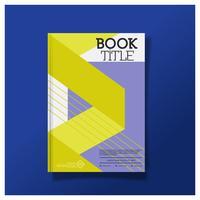 Design de brochura, Layout de capa moderna, relatório anual, Flyer em A4 Design de capa de folheto de panfleto de cartaz. vetor