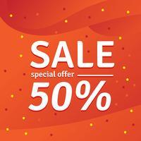 Oferta especial de venda. 50% de desconto. Ilustração vetorial