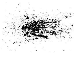 Aquarela abstrata do respingo da tinta preta, textura do pulverizador da aquarela do respingo isolada no fundo branco. Ilustração vetorial