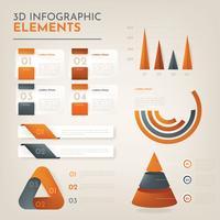 Pacote de vetores infográfico 3D