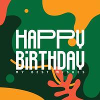 Feliz aniversário vector design