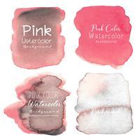 Fundo rosa aquarela abstrata. Ilustração vetorial vetor