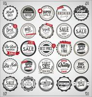 Emblemas e etiquetas vintage retrô vetor